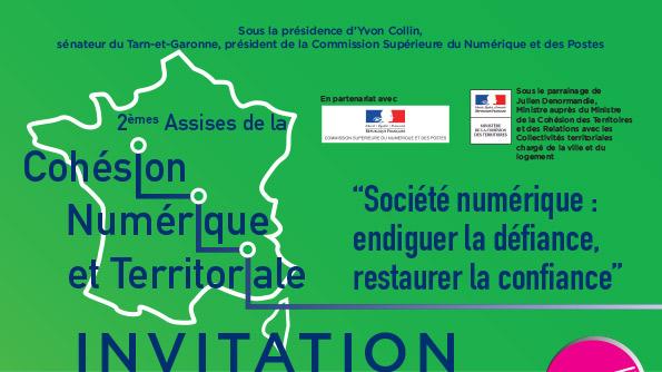 Invitation, 2èmes Assises de la Cohésion Numérique et Territoriale